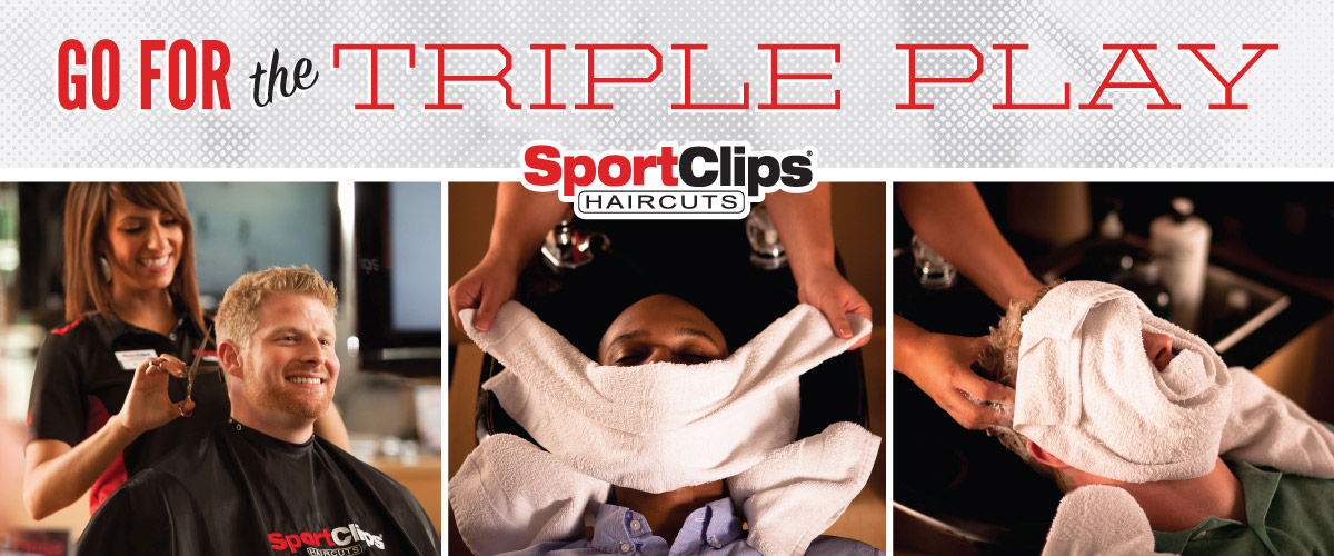 The Sport Clips Haircuts of Houston - Medical Center  Triple Play